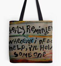 daily reminder Tote bag
