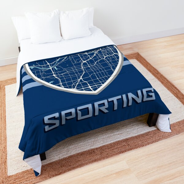 Kansas City Map in Sporting Colors Comforter