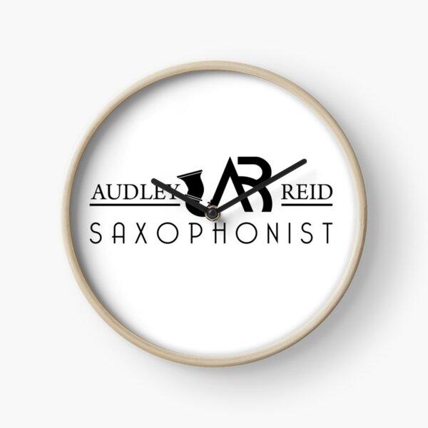 Audley Reid Saxophonist: White Series Clock