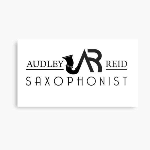 Audley Reid Saxophonist: White Series Metal Print