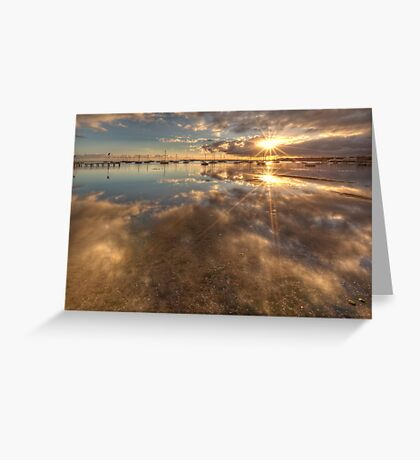 Dual Sunbursts Greeting Card