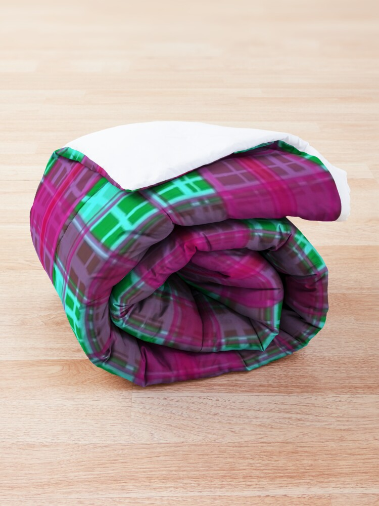 Alternate view of Girly Flannel Striped Decor Comforter