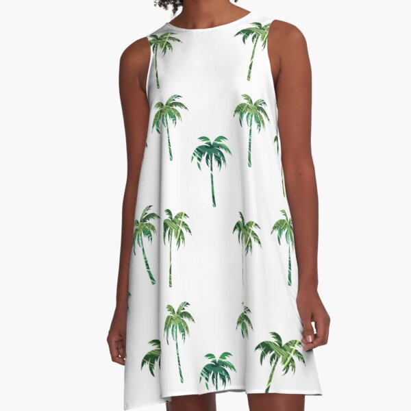 Green palm trees pack A-Line Dress