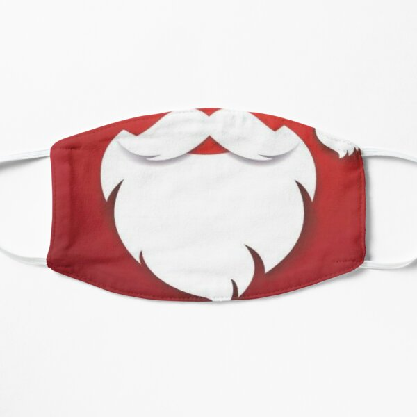 Santa Beard Red Mask  Flat Mask