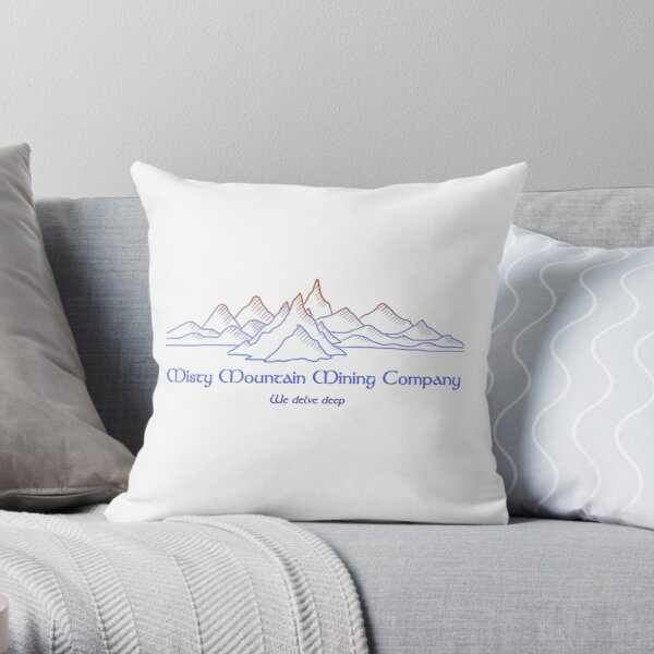 M.M. Mining Company Lt Throw Pillow