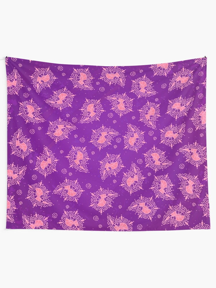 Alternate view of Cute Paisley Floral Pattern Tapestry