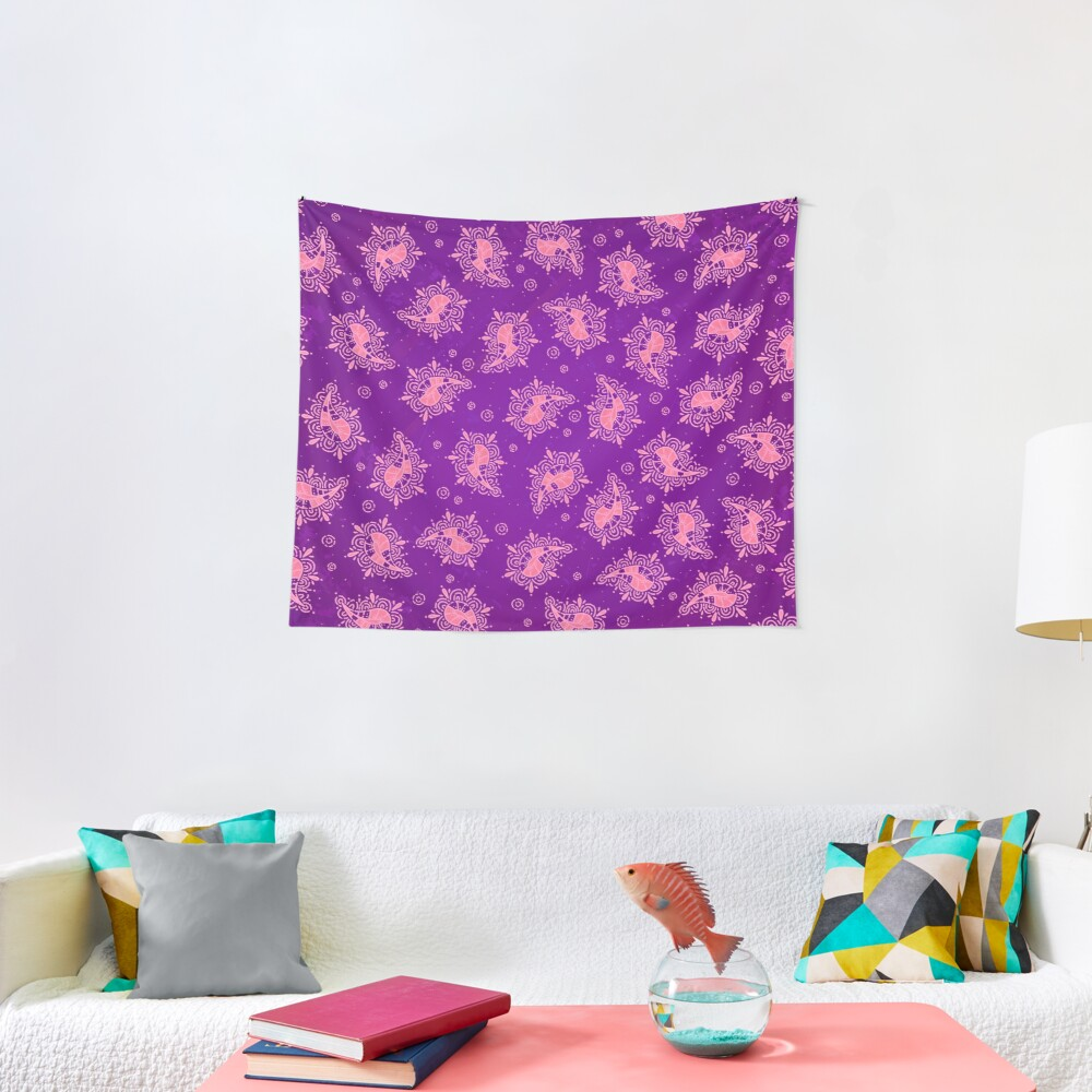 Cute Paisley Floral Pattern Tapestry