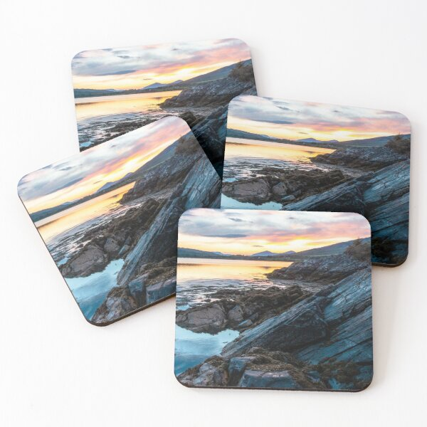 Seal Pup Sunset Coasters (Set of 4)
