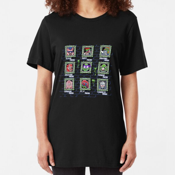 Teenage Mutant Mega Turtles (DONNIE) Slim Fit T-Shirt