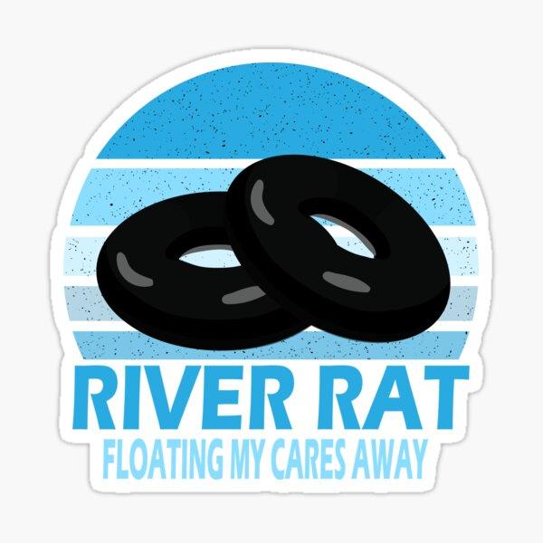 River Rat Floating Inner Tube Tubing Gift  Sticker
