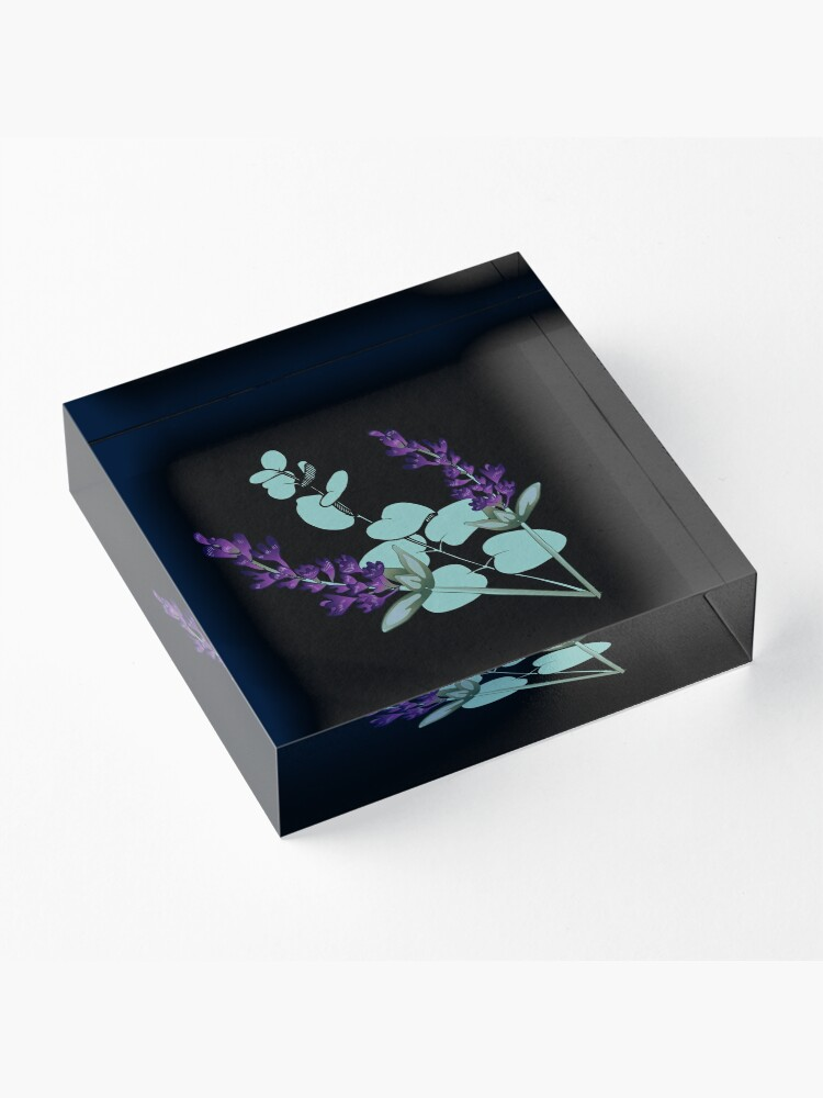 Alternate view of Eucalyptus and lavender Acrylic Block