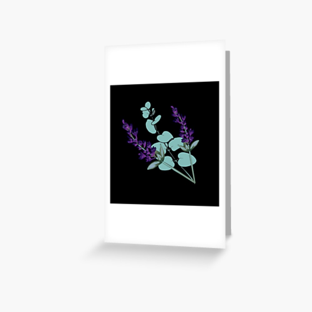 Eucalyptus and lavender Greeting Card