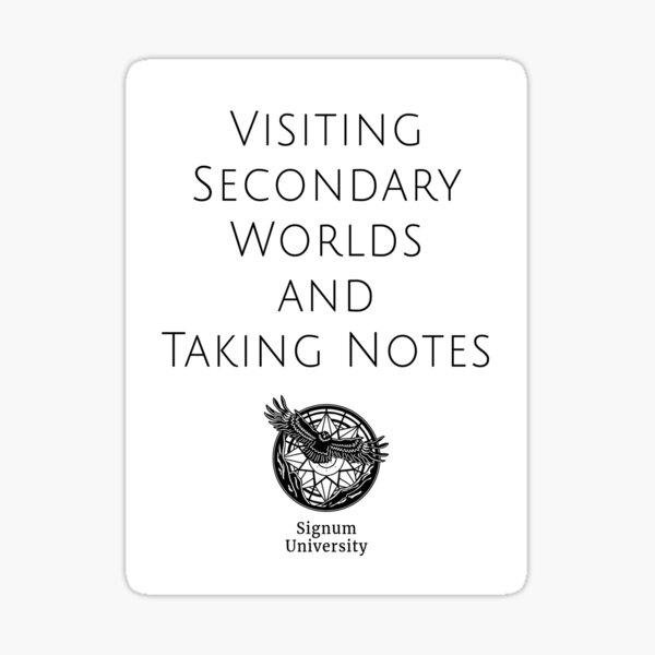 Visiting Worlds Sticker