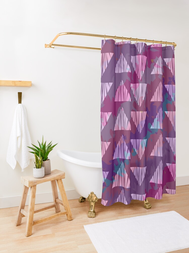 Alternate view of Sassy Fun and Playful Girly Artwork Shower Curtain