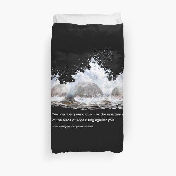 Spiritual Boulders Duvet Cover