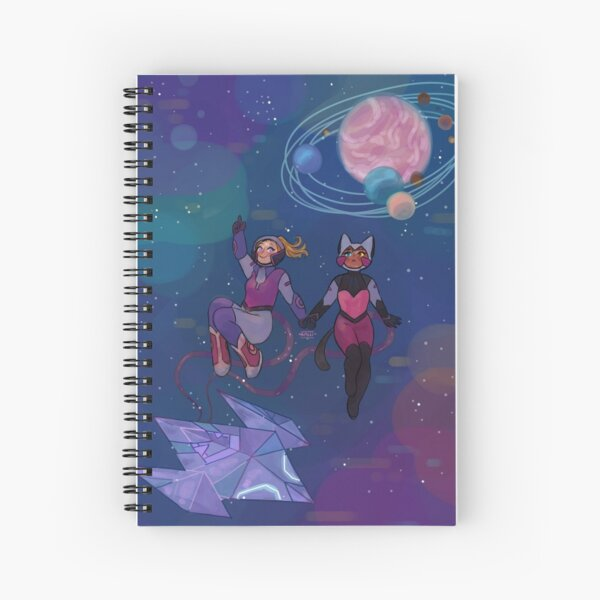space catradora Spiral Notebook