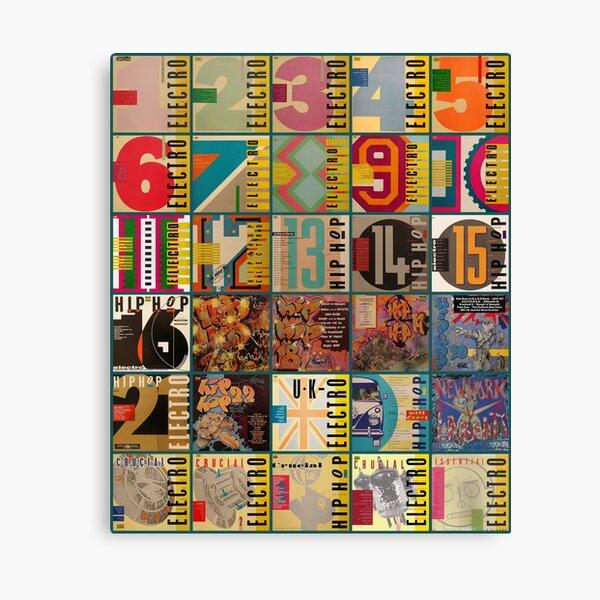 Electro Old School UK Hip Hop Album Covers inspired design Canvas Print