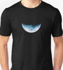 Almost Half Blue Moon Setting Unisex T-Shirt