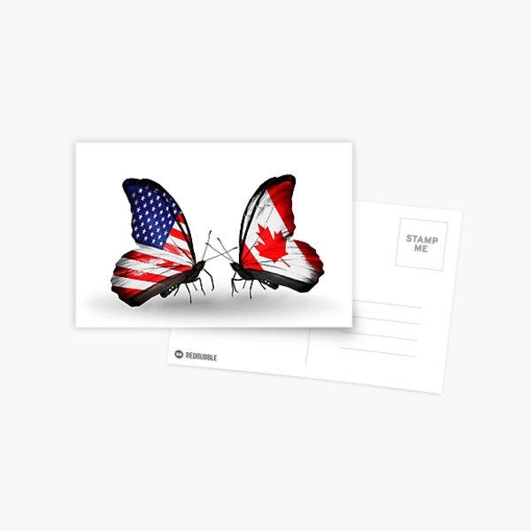 Butterflies:USA-Canada Postcard