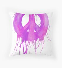 Dripping Peace Sign Throw Pillow