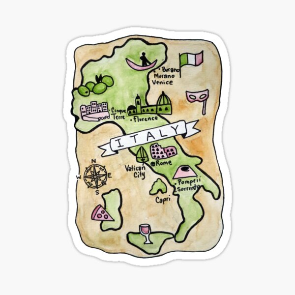 Map of Italy :: Maps Sticker