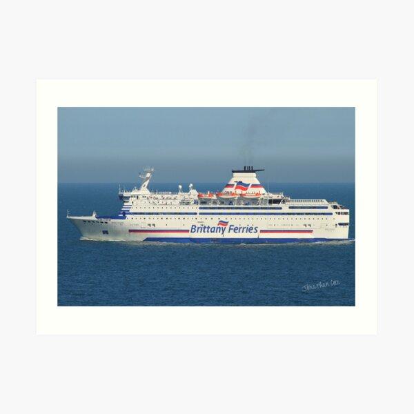 Brittany Ferries Bretagne Art Print