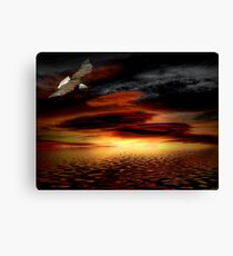 Under His Wings of Love Canvas Print