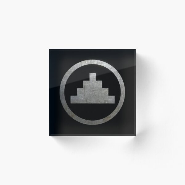 One State Symbol Acrylic Block