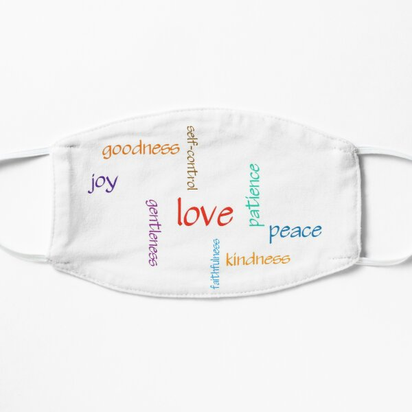 Fruit of the Spirit Word Cloud Flat Mask