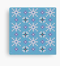Knitted snowfall Canvas Print