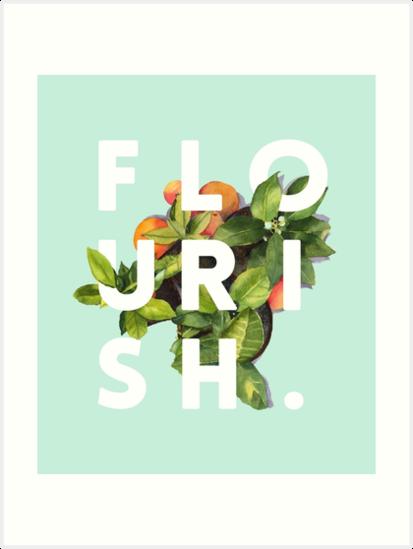 Flourish #redbubble #home #designer #tech #lifestyle #fashion #style by 83oranges