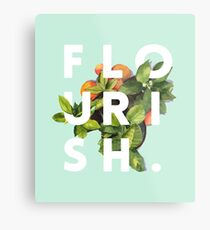 Flourish #redbubble #home #designer #tech #lifestyle #fashion #style Metal Print
