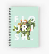 Flourish #redbubble #home #designer #tech #lifestyle #fashion #style Spiral Notebook