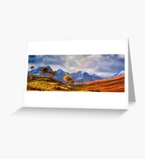 Autumn Snow and Sunlight, Isle of Skye, UK Greeting Card