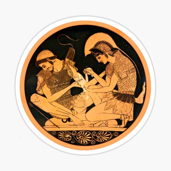 Achilles and Patroclus - Greek pottery Sticker