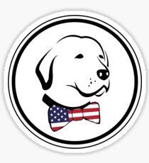 Nobler amerikanischer Hund Sticker