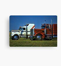 Kenworth and Peterbilt Semi Trucks Canvas Print