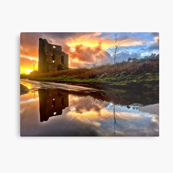 Engine House, Brea, Cornwall Metal Print