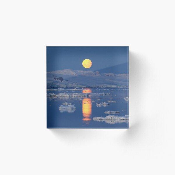 Antarctic Moonrise Acrylic Block