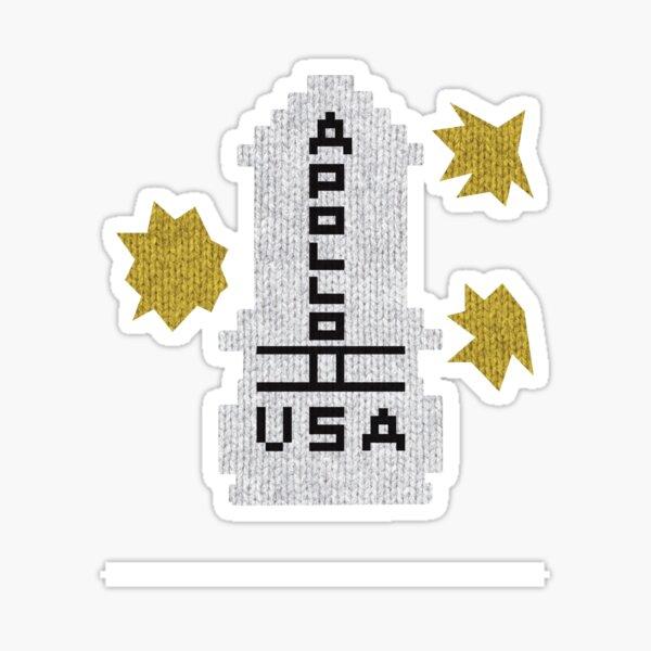 Hello Apollo 11 (The Shining) Sweater Texture 2 Danny Torrence Sticker