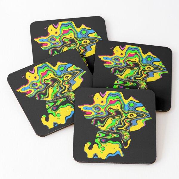 Acid Stewie Griffin black  Coasters (Set of 4)