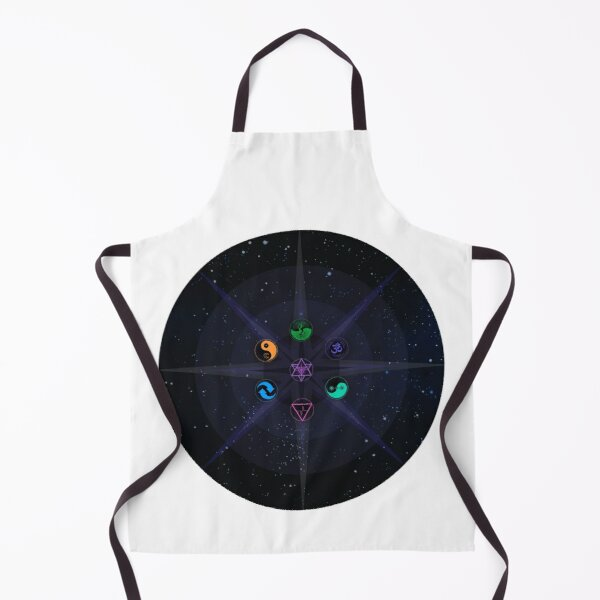 Stars with Colored Universal Principles of Alchemy Symbols Apron
