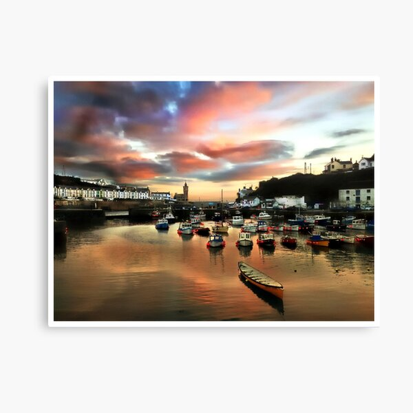 Porthleven Harbour Canvas Print