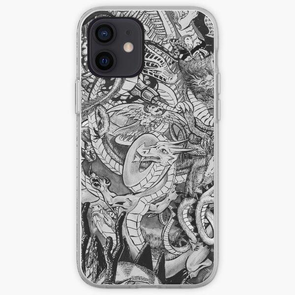 Wrestling Dragons iPhone Soft Case