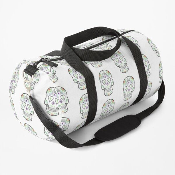 Mexican Calavera Skull White - Day of the Dead Duffle Bag