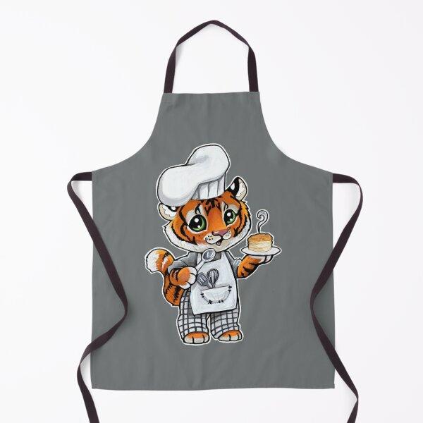 Biscuit baking tiger Apron
