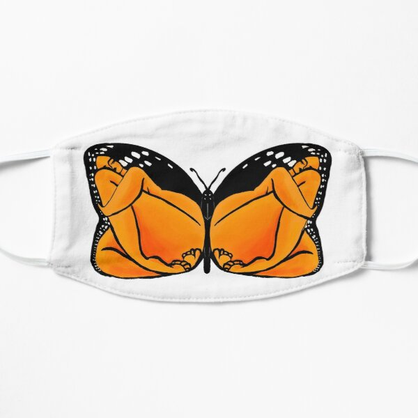 Monarch, Butterfly Design with Women Mask