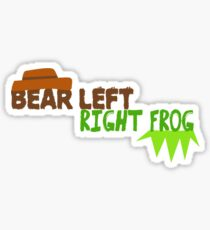 Bear Left Right Frog Sticker
