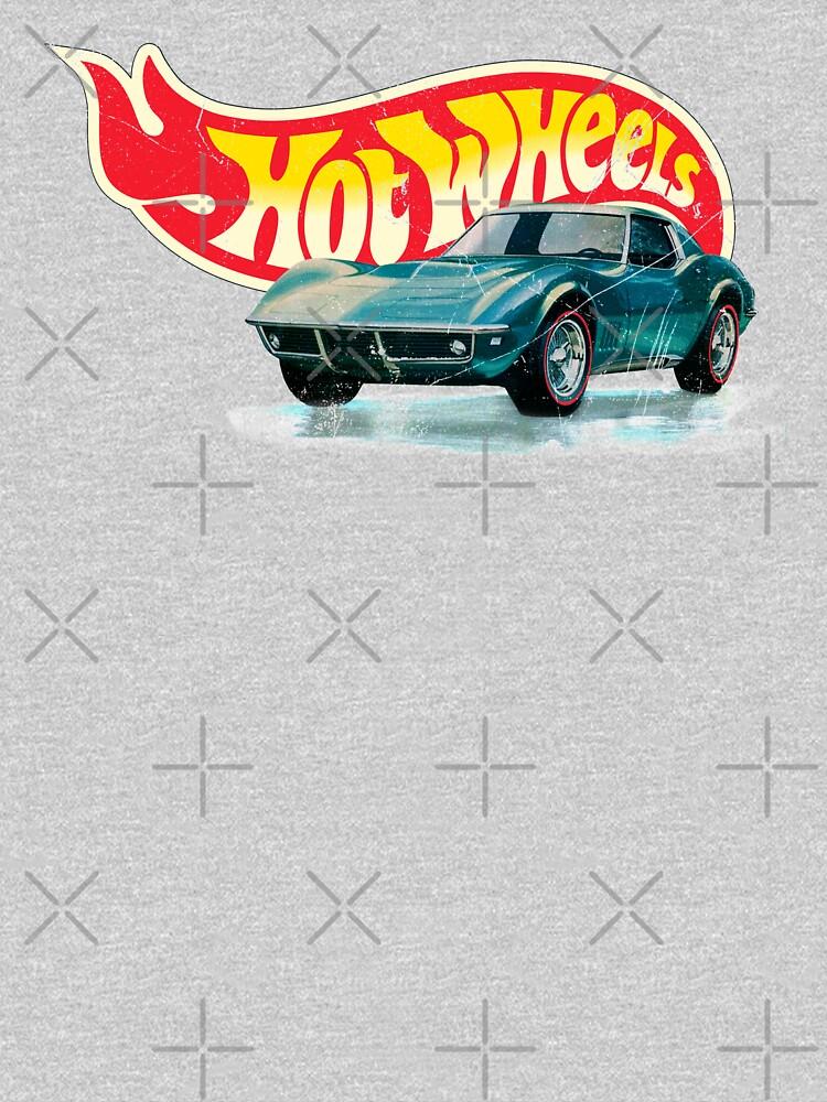 Hot Wheels Chevrolet Corvette Stingray 1968 - Authentic, Vintage, Distressed  by OffsetVinylFilm