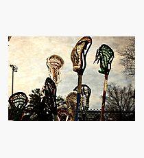 lacrosse sticks  Photographic Print
